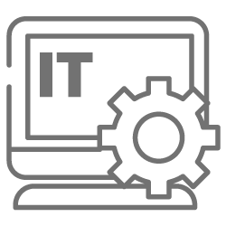 Laptop and gear icon